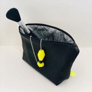 Handbags - New Handmade Repurposed Black Leather Make Up Bag